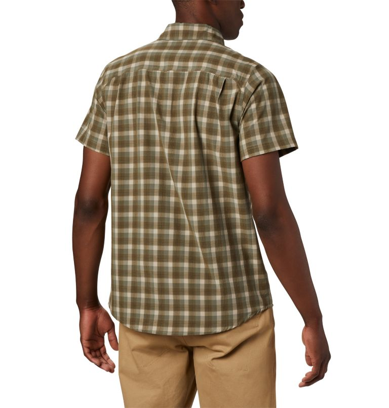 Triple Canyon™ SS Shirt | 160 | L Camicia a manica corta Triple Canyon™ da uomo , Fossil Mini Tonal Plaid, back
