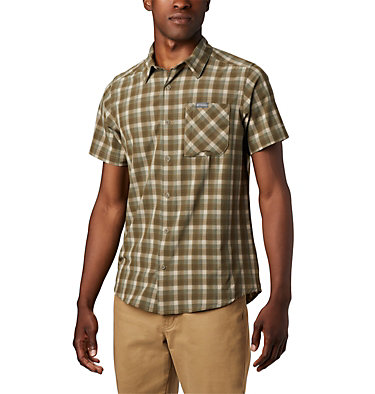 Camisa de manga corta Triple Canyon™ para hombre Triple Canyon™ SS Shirt | 437 | L, Fossil Mini Tonal Plaid, front