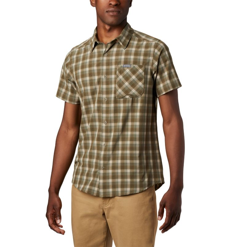 Triple Canyon™ SS Shirt | 160 | L Camicia a manica corta Triple Canyon™ da uomo , Fossil Mini Tonal Plaid, front