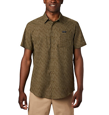 Men's Triple Canyon™ Short Sleeve Shirt Triple Canyon™ SS Shirt | 437 | L, New Olive Maze, front