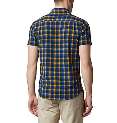 Camisa de manga corta Triple Canyon™ para hombre Triple Canyon™ SS Shirt | 437 | L, Azul Mini Tonal Plaid, back