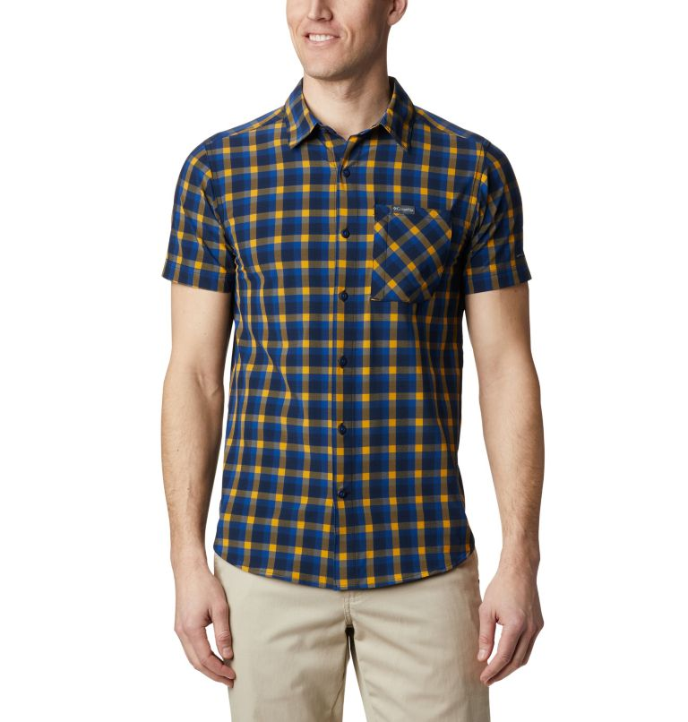 Triple Canyon™ SS Shirt | 437 | XXL Camicia a manica corta Triple Canyon™ da uomo , Azul Mini Tonal Plaid, front