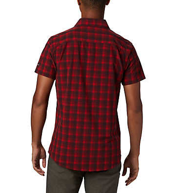 Camisa de manga corta Triple Canyon™ para hombre Triple Canyon™ SS Shirt | 437 | L, Mountain Red Mini Tonal Plaid, back