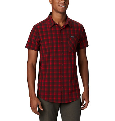 Camisa de manga corta Triple Canyon™ para hombre Triple Canyon™ SS Shirt | 437 | L, Mountain Red Mini Tonal Plaid, front