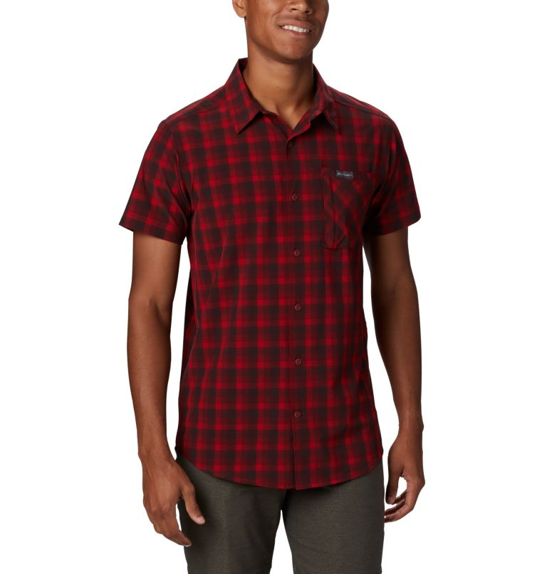 Triple Canyon™ SS Shirt | 613 | L Camicia a manica corta Triple Canyon™ da uomo , Mountain Red Mini Tonal Plaid, front
