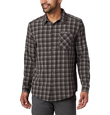 Camisa de manga larga Triple Canyon™ para hombre Triple Canyon™ LS Shirt | 432 | S, Columbia Grey Mini Tonal Plaid, front