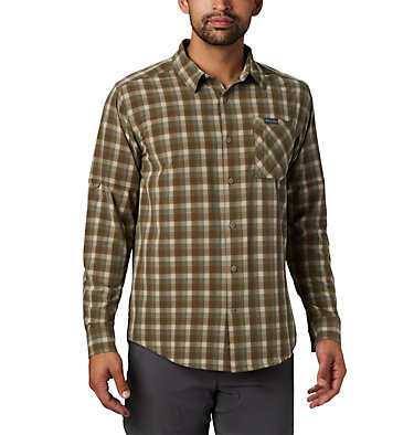 Camisa de manga larga Triple Canyon™ para hombre Triple Canyon™ LS Shirt | 432 | S, Fossil Mini Tonal Plaid, front