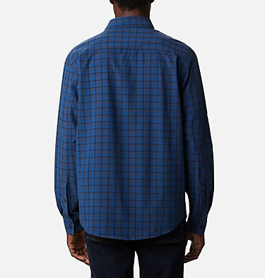 Camisa de manga larga Triple Canyon™ para hombre Triple Canyon™ LS Shirt | 432 | S, Bright Indigo Mini Tonal Plaid, back