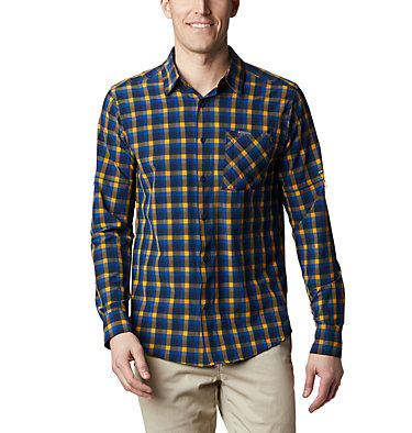 Camisa de manga larga Triple Canyon™ para hombre Triple Canyon™ LS Shirt | 432 | S, Azul Mini Tonal Plaid, front