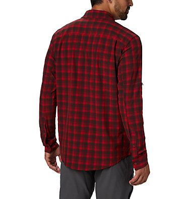 Men's Triple Canyon™ Shirt Triple Canyon™ LS Shirt | 432 | S, Mountain Red Mini Tonal Plaid, back