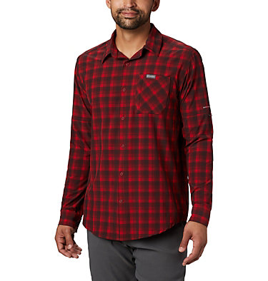Camisa de manga larga Triple Canyon™ para hombre Triple Canyon™ LS Shirt | 432 | S, Mountain Red Mini Tonal Plaid, front