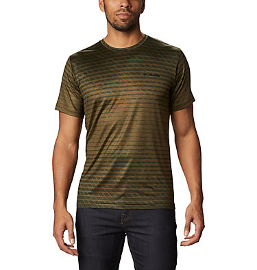 Men's Tech Trail™ Print T-Shirt Tech Trail™ Print SS Crew | 010 | M, New Olive Ombre, front