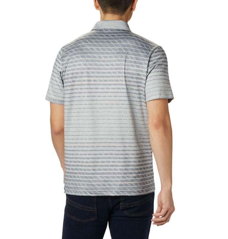 Tech Trail™ Print Polo | 039 | S Men's Tech Trail™ Print Polo, Columbia Grey Ombre, back