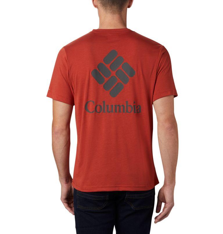 Maxtrail™ SS Logo Tee | 835 | M Men's Maxtrail™ Short Sleeve Logo Tee, Carnelian Red, back