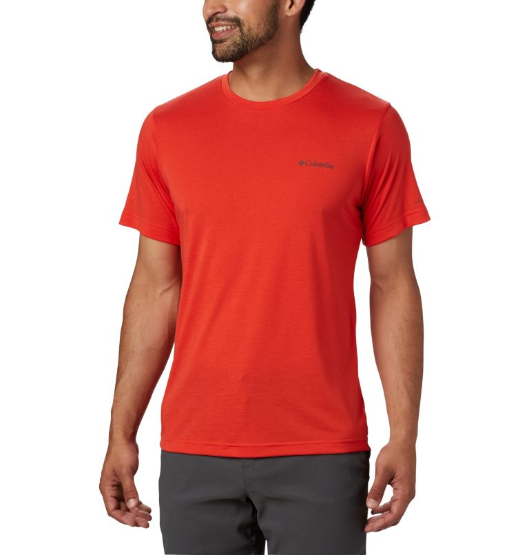 Maxtrail™ SS Logo Tee | 845 | L Men's Maxtrail™ Short Sleeve Logo Tee, Wildfire, front