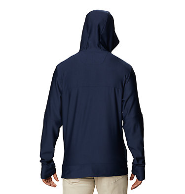 Men's Maxtrail™ Long Sleeve Midlayer Hoodie Maxtrail™ LS Midlayer | 010 | L, Collegiate Navy, back