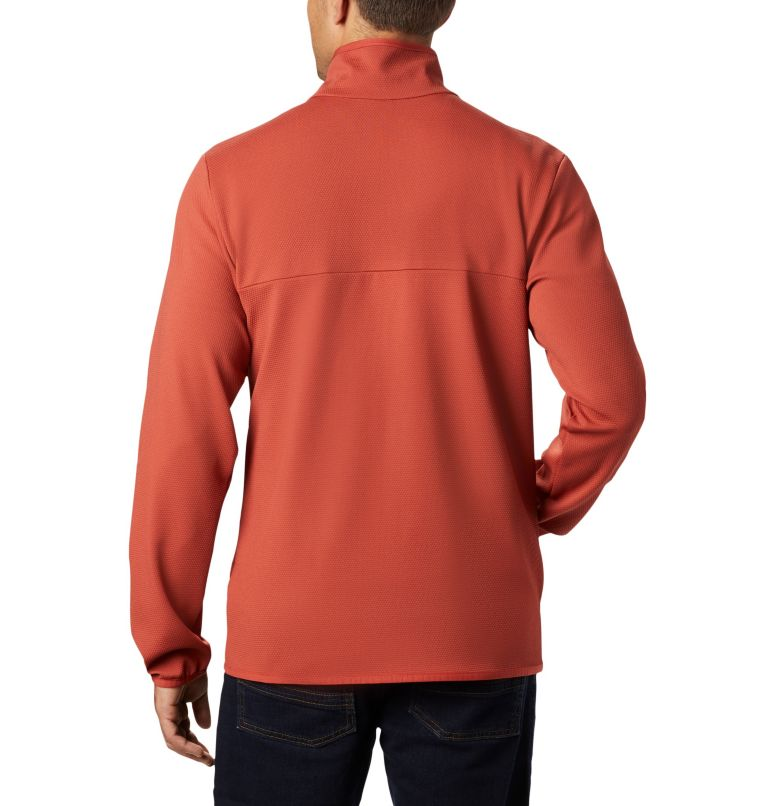 Town Park™ Midlayer FZ | 835 | M Midlayer Full Zip Town Park™ da uomo, Carnelian Red, back