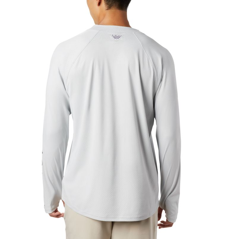 Men's PFG Terminal Deflector™ Zero Mock Long Sleeve Shirt Men's PFG Terminal Deflector™ Zero Mock Long Sleeve Shirt, back