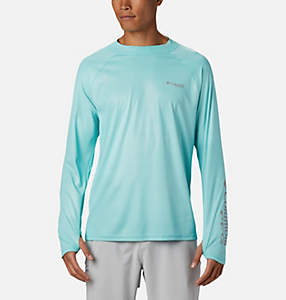 Men's PFG Terminal Deflector™ Zero Mock Long Sleeve Shirt