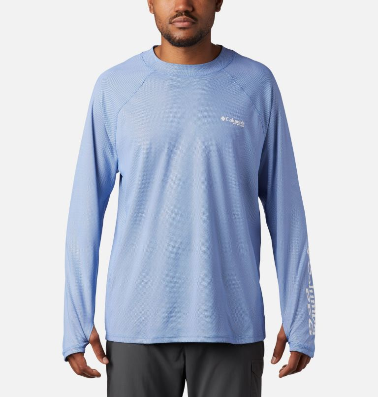 Men's PFG Terminal Deflector™ Zero Mock Long Sleeve Shirt Men's PFG Terminal Deflector™ Zero Mock Long Sleeve Shirt, front