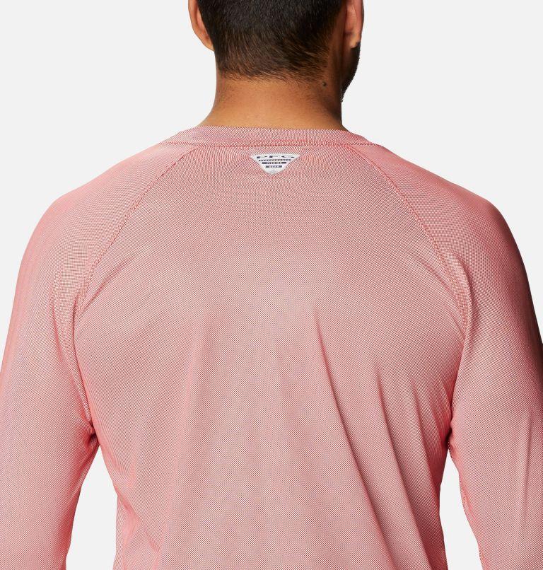 Terminal Deflector ZERO™ Mock LS | 696 | M Men's PFG Terminal Deflector™ Zero Mock Long Sleeve Shirt, Red Spark, a3