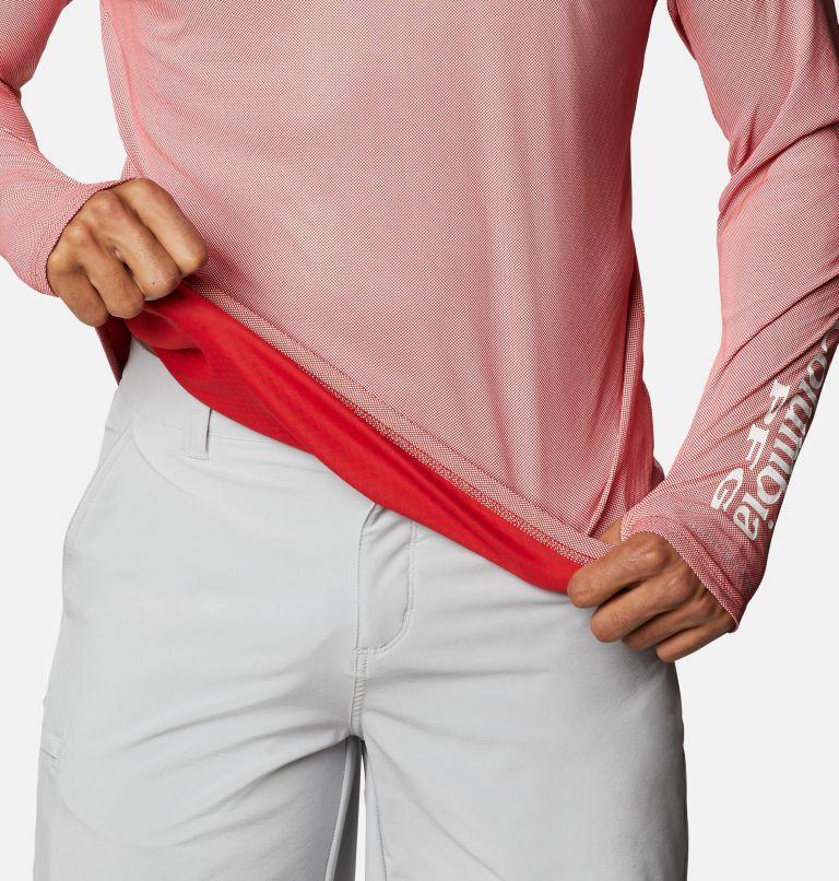 Terminal Deflector ZERO™ Mock LS | 696 | L Men's PFG Terminal Deflector™ Zero Mock Long Sleeve Shirt, Red Spark, a5