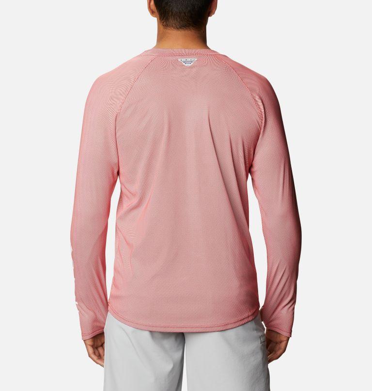 Terminal Deflector ZERO™ Mock LS | 696 | L Men's PFG Terminal Deflector™ Zero Mock Long Sleeve Shirt, Red Spark, back