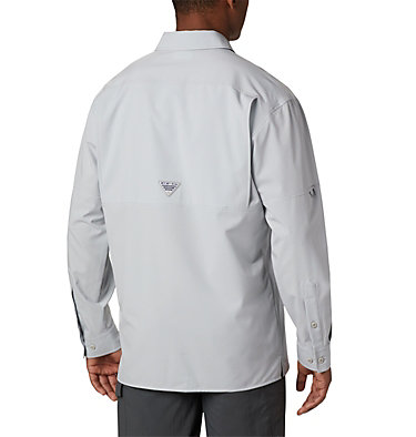 Men's PFG Zero Rules™ Woven Long Sleeve Shirt PFG ZERO Rules™ Woven LS | 450 | L, Cool Grey, back