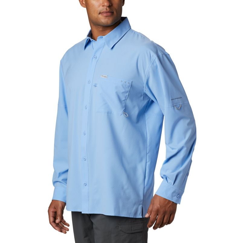 PFG ZERO Rules™ Woven LS | 450 | S Men's PFG Zero Rules™ Woven Long Sleeve Shirt, White Cap, a1