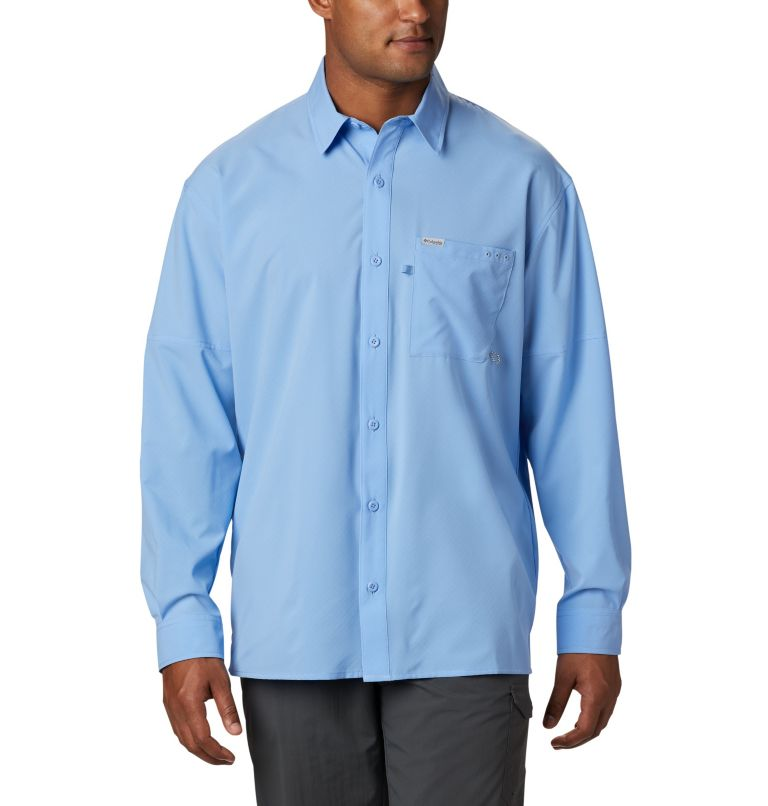 PFG ZERO Rules™ Woven LS | 450 | S Men's PFG Zero Rules™ Woven Long Sleeve Shirt, White Cap, front