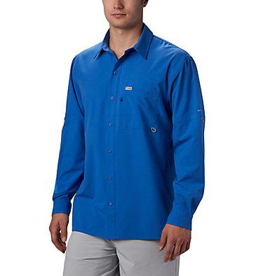 Men's PFG Zero Rules™ Woven Long Sleeve Shirt PFG ZERO Rules™ Woven LS | 450 | L, Vivid Blue, front
