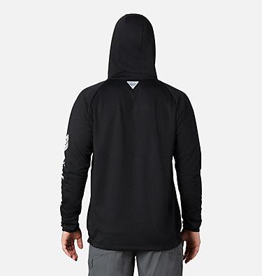 Men's PFG Terminal Tackle™ Fleece Full Zip Hoodie Terminal Tackle™ Fleece FZ Hoodie | 023 | L, Black, Cool Grey Logo, back
