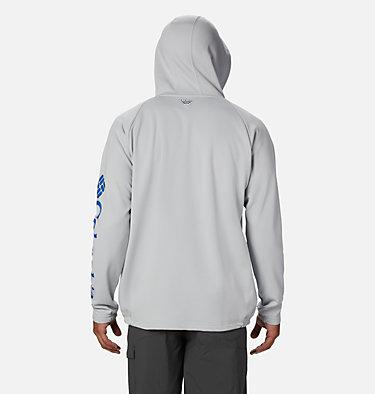 Men's PFG Terminal Tackle™ Fleece Full Zip Hoodie Terminal Tackle™ Fleece FZ Hoodie | 023 | L, Cool Grey, Vivid Blue Logo, back