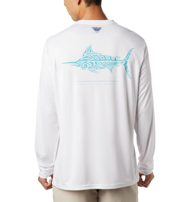 Men's PFG Terminal Tackle™ Tribal Fish Long Sleeve Shirt Men's PFG Terminal Tackle™ Tribal Fish Long Sleeve Shirt, front