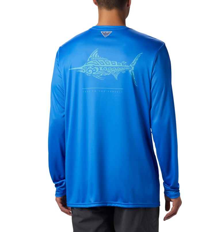 Men's PFG Terminal Tackle™ Tribal Fish Long Sleeve Shirt Men's PFG Terminal Tackle™ Tribal Fish Long Sleeve Shirt, front