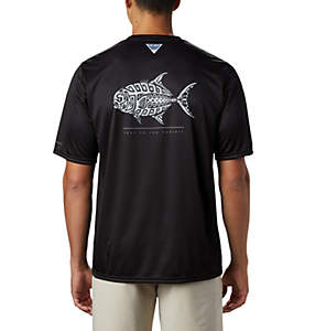 Men's PFG Terminal Tackle™ Tribal Fish Short Sleeve Shirt