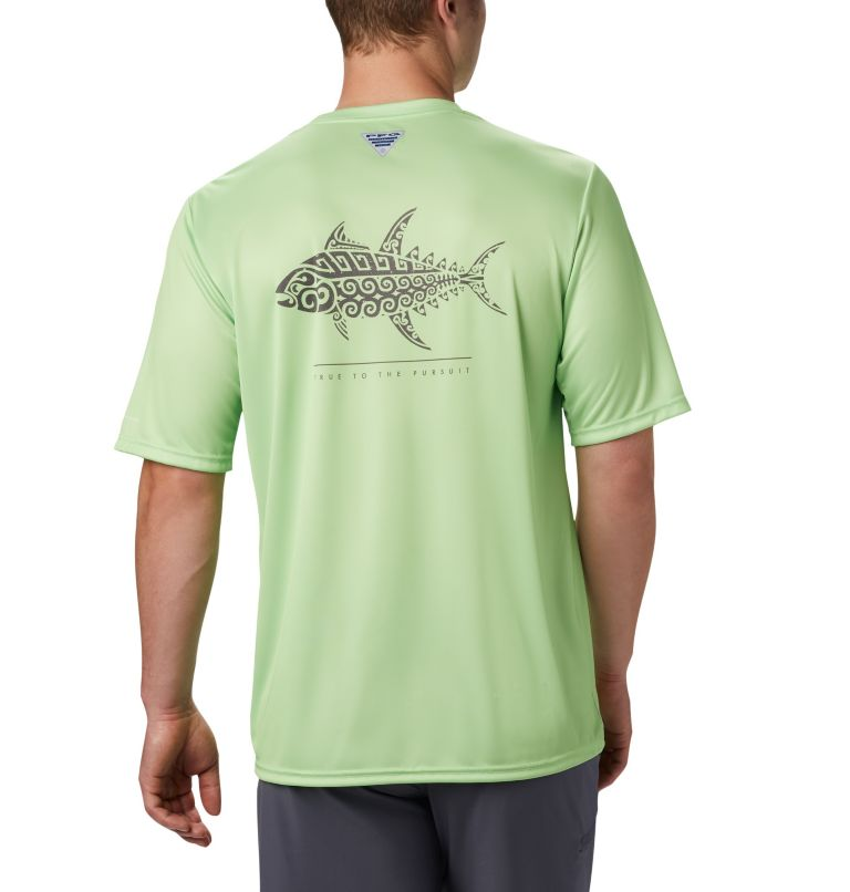 Men's PFG Terminal Tackle™ Tribal Fish Short Sleeve Shirt Men's PFG Terminal Tackle™ Tribal Fish Short Sleeve Shirt, front