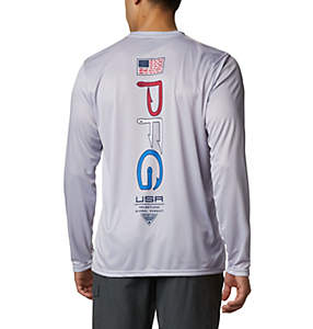 Men's PFG Terminal Tackle™ Americana Long Sleeve Shirt