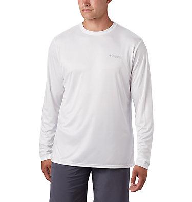 Men's PFG Terminal Tackle™ Americana Long Sleeve Shirt Terminal Tackle PFG™ Americana LS | 696 | XS, White, back