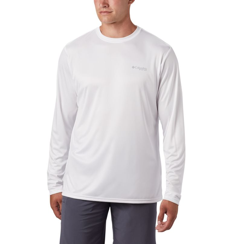 Terminal Tackle PFG™ Americana LS | 100 | L Men's PFG Terminal Tackle™ Americana Long Sleeve Shirt, White, back