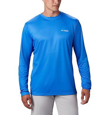 Men's PFG Terminal Tackle™ Americana Long Sleeve Shirt Terminal Tackle PFG™ Americana LS | 696 | XS, Vivid Blue, back