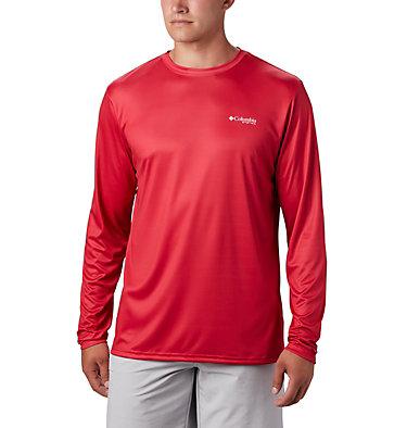 Men's PFG Terminal Tackle™ Americana Long Sleeve Shirt Terminal Tackle PFG™ Americana LS | 696 | XS, Red Spark, back