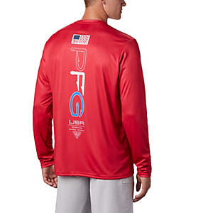 Men's PFG Terminal Tackle™ Americana Long Sleeve Shirt