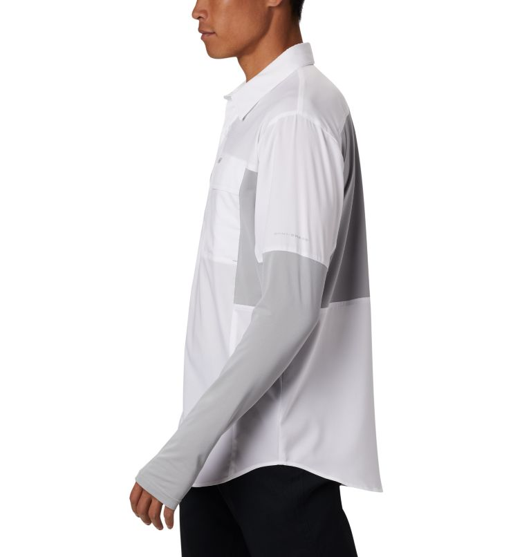 Silver Ridge™ Lite Hybrid Shirt | 100 | M Men's Silver Ridge™ Lite Hybrid Shirt, White, Columbia Grey, a1