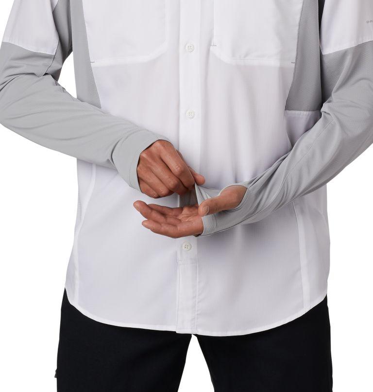 Silver Ridge™ Lite Hybrid Shirt   100   L Men's Silver Ridge™ Lite Hybrid Shirt, White, Columbia Grey, a2