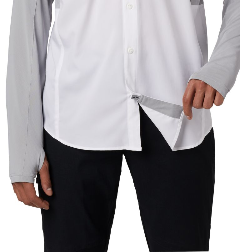 Silver Ridge™ Lite Hybrid Shirt | 100 | XXL Men's Silver Ridge™ Lite Hybrid Shirt, White, Columbia Grey, a3