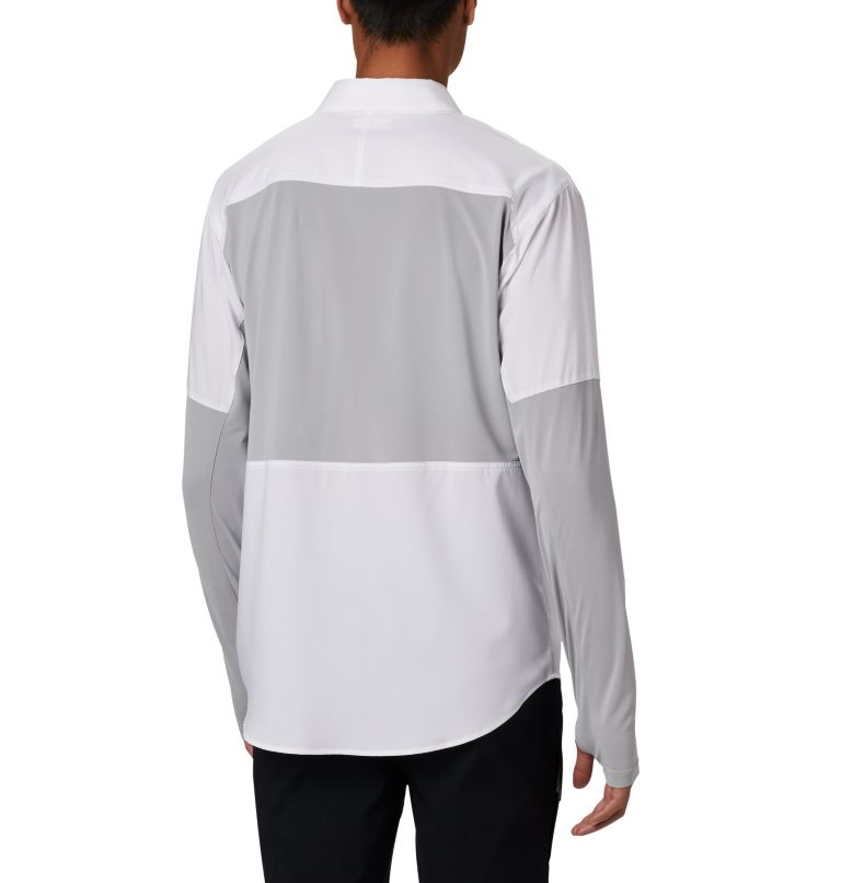 Silver Ridge™ Lite Hybrid Shirt | 100 | XXL Men's Silver Ridge™ Lite Hybrid Shirt, White, Columbia Grey, back