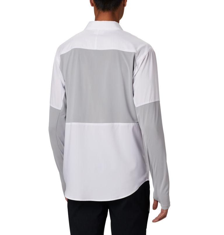 Silver Ridge™ Lite Hybrid Shirt   100   L Men's Silver Ridge™ Lite Hybrid Shirt, White, Columbia Grey, back