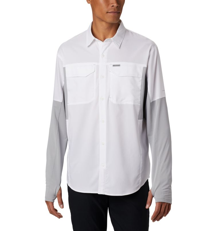 Silver Ridge™ Lite Hybrid Shirt | 100 | M Men's Silver Ridge™ Lite Hybrid Shirt, White, Columbia Grey, front