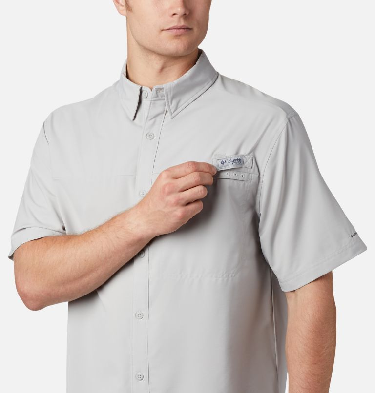 Grander Marlin™ Woven SS | 019 | XS Men's PFG Grander Marlin™ Woven Short Sleeve Shirt, Cool Grey, a3